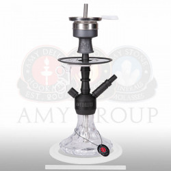 AMY Deluxe 107.03 Alu Brilli S - Mat zwart/transparant