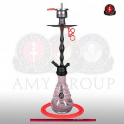 AMY Deluxe 630.01 Glorious - Mat zwart/roze