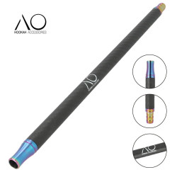 AO Carbon Mondstuk - Rainbow / Matt Black