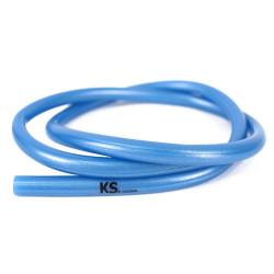 Siliconen slang - metallic neon blauw